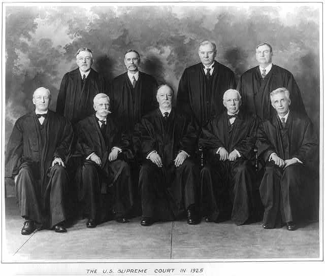 The U.S. Supreme Court in 1925