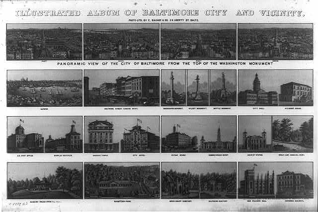 Illustrated album of Baltimore City and vicinity