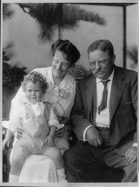 Col. Theodore Roosevelt, Mrs. Roosevelt, Richard Derby, son of Mrs. Derby (Ethel Roo[sevelt])