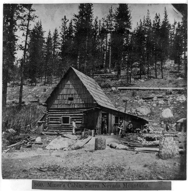 Miner&#39;s cabin, Sierra Nevada Mountains