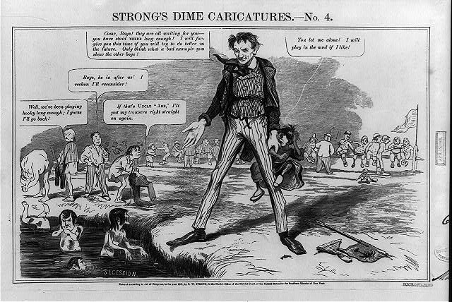 "Strong's dime caricatures. No. 4, ""The schoolmaster abroad"" at last"