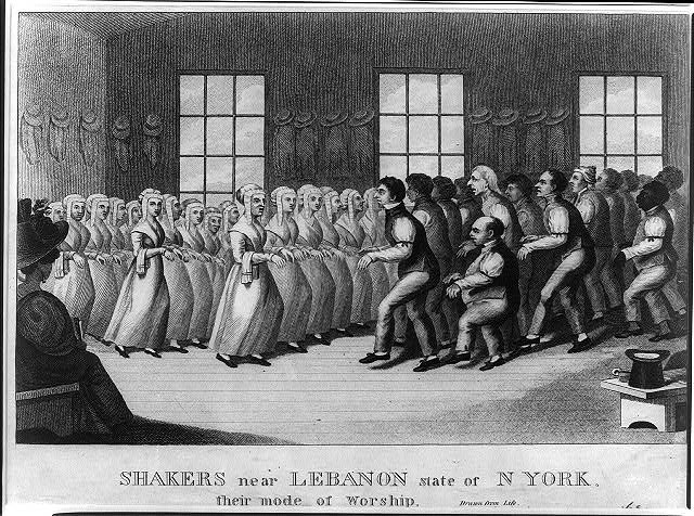 Shakers near Lebanon state of N. York, their mode of worship