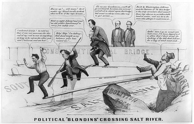 "Political ""blondins"" crossing salt river"