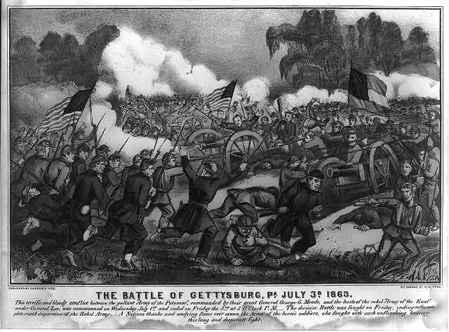 The battle of Gettysburg, Pa. July 3d. 1863