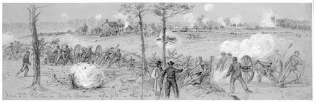 June 2nd Position nr. Cold Harbor--rifle pits in the front