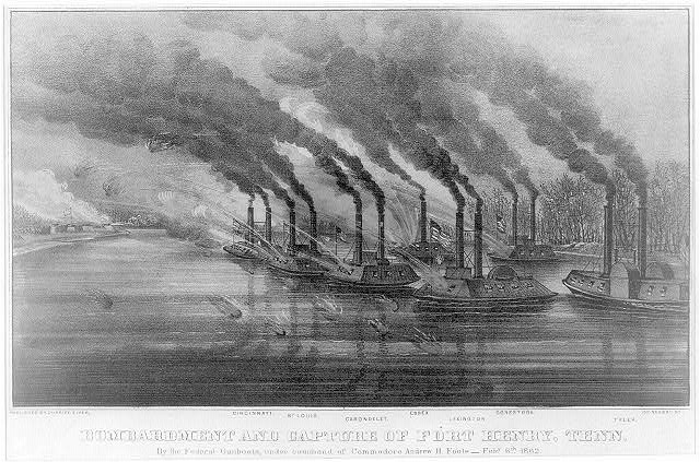 Bombardment and capture of Fort Henry, Tenn.: By the federal gunboats under command of commodore Andrew H. Foote-Feby. 6th 1862