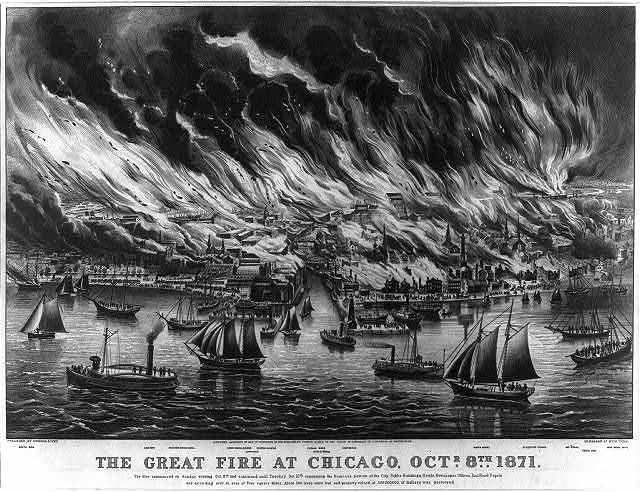 The great fire at Chicago, Octr. 8th 1871