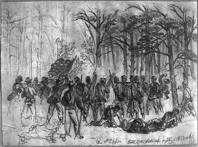 The 6th Corps--Battle of the Wilderness--fighting in the woods