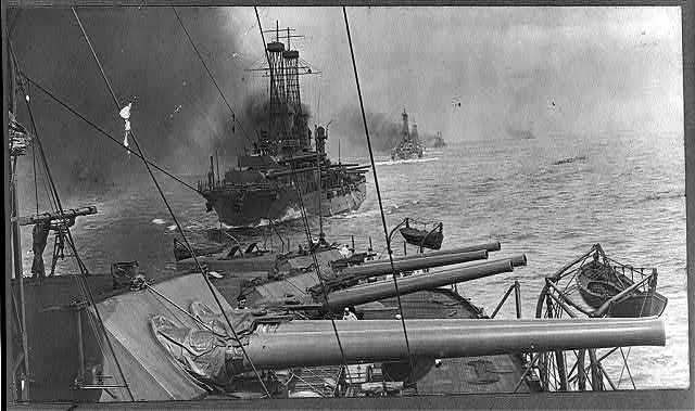 U. S. Atlantic fleet during battle practice