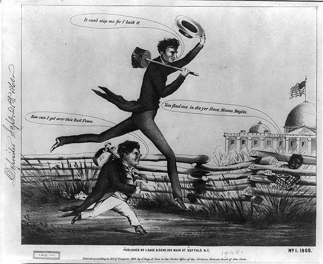 [Lincoln &amp; Douglas in a presidential footrace]. No. 1, 1860