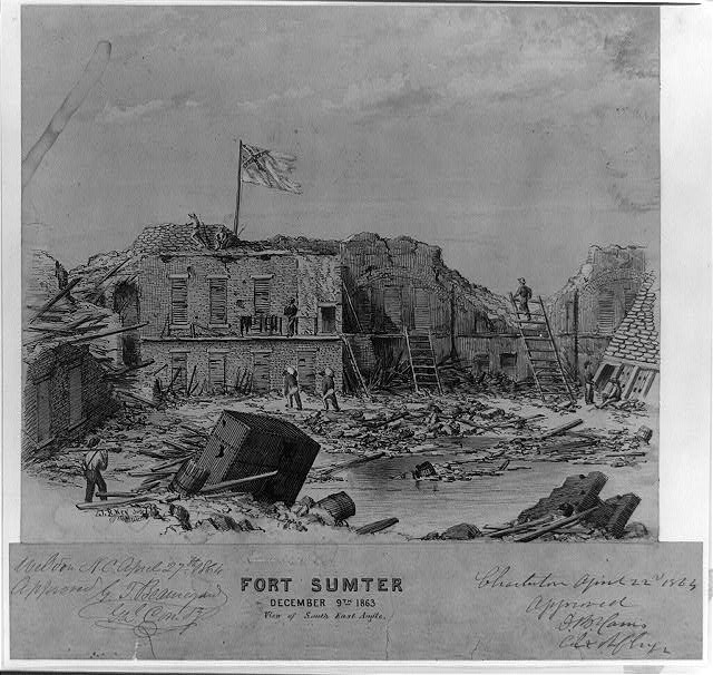 Fort Sumter, December 9th 1863, View of South East Angle