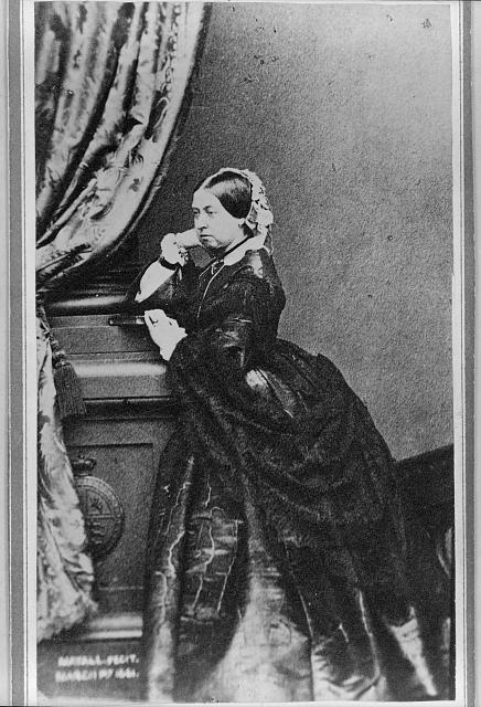 [Queen Victoria, full-length portrait, facing left]