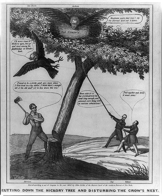 Cutting down the hickory tree and disturbing the crow's nest
