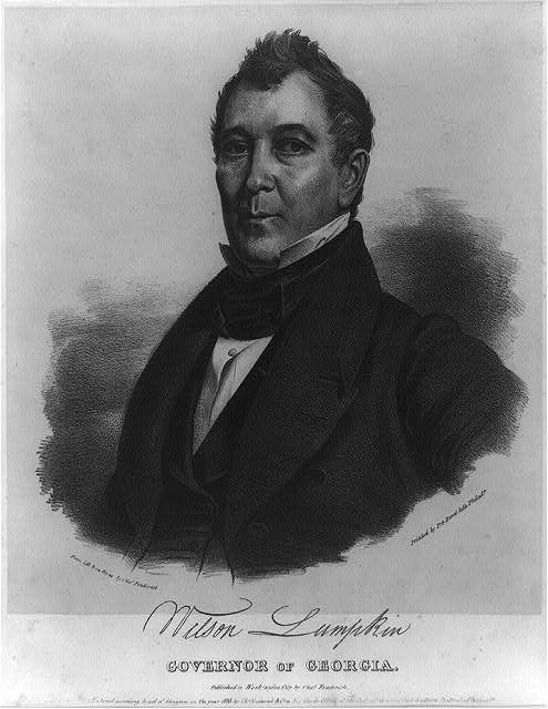 Wilson Lumpkin, Governor of Georgia