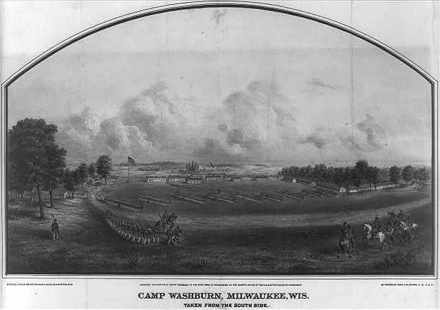 Camp Washburn, Milwaukee, Wis. Taken from the south side