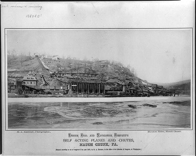 Lehigh Coal and Navigation Company's self acting planes and chutes, Mauch Chunk, Pa.