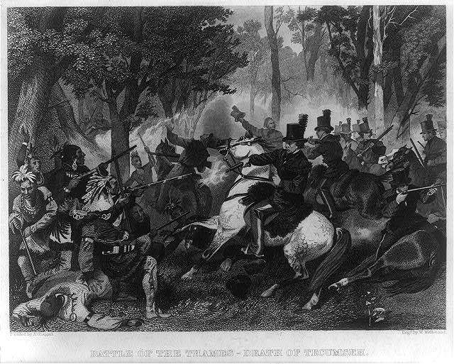 Battle of the Thames - death of Tecumseh