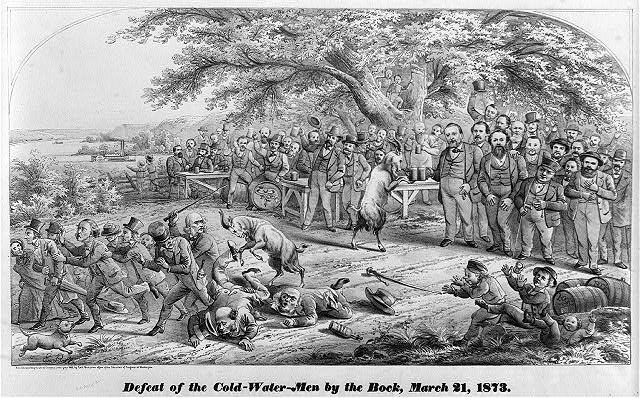Defeat of the cold-water-men by the bock, March 21, 1873