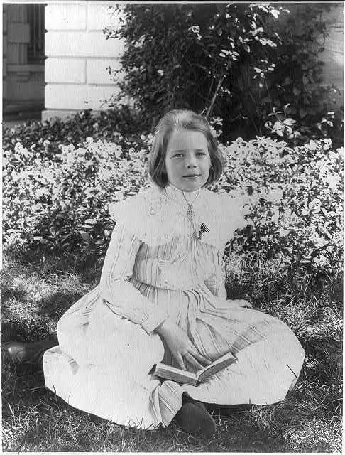 Ethel Roosevelt in the garden
