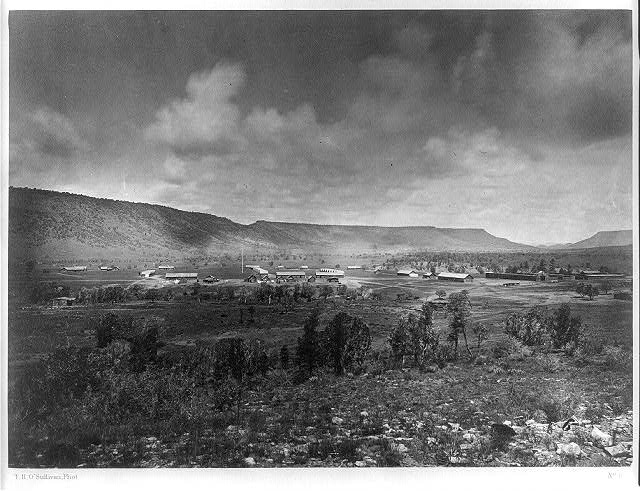 Distant view of Camp Apache, Arizona