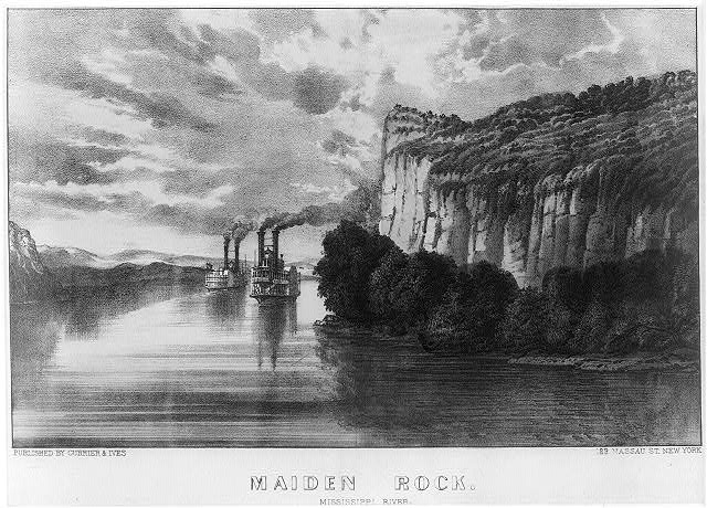 Maiden rock: Mississippi River