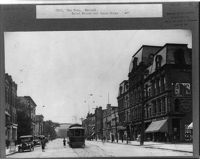 New York. Hornell, Broad street and Opera house