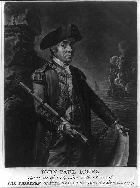 Iohn Paul Iones, commander of a squadron in the service of the thirteen United States of North America, 1779