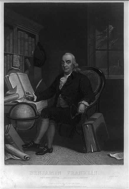 Benjamin Franklin - born in Boston, Jany. 17th 1706 -- died in Philadelphia, April 17th 1790