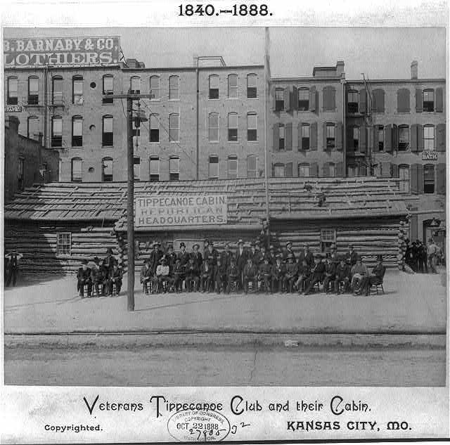 Veterans Tippecanoe Club and their cabin, Kansas City, Mo.