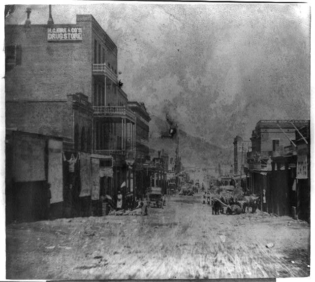 C Street, Virginia City - Cedar Hill in the distance