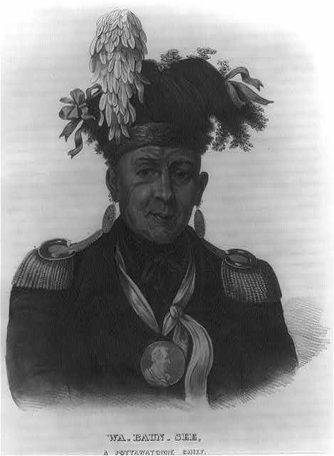 Wa-baun-see, a Pottawatomie chief