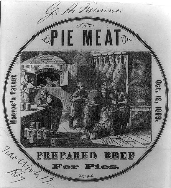 Monroe's patent pie meat - prepared beef for pies