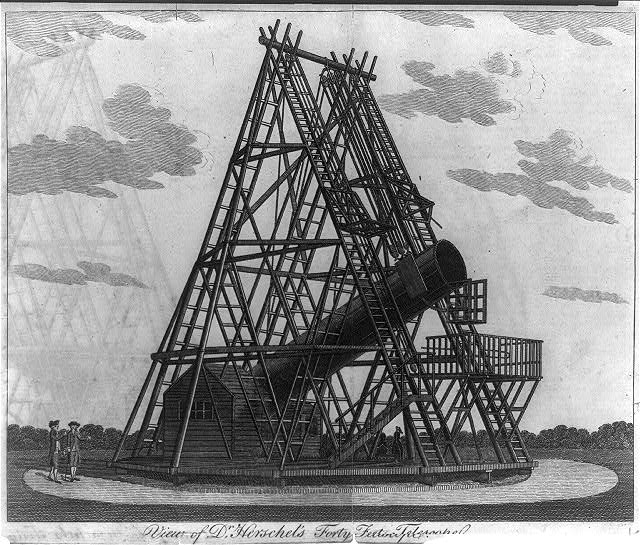 View of Dr. Herschel's forty feet telescope