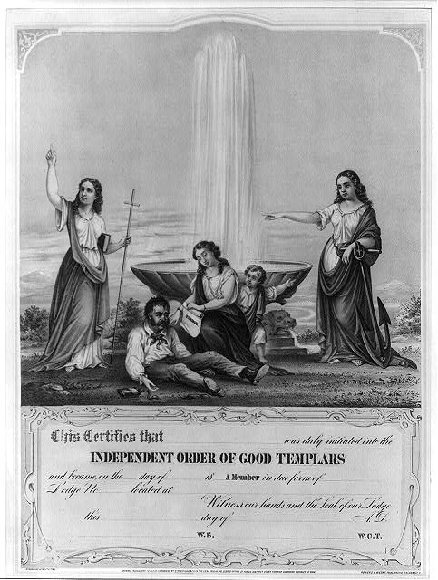 [Certificate for] independent order of good templars