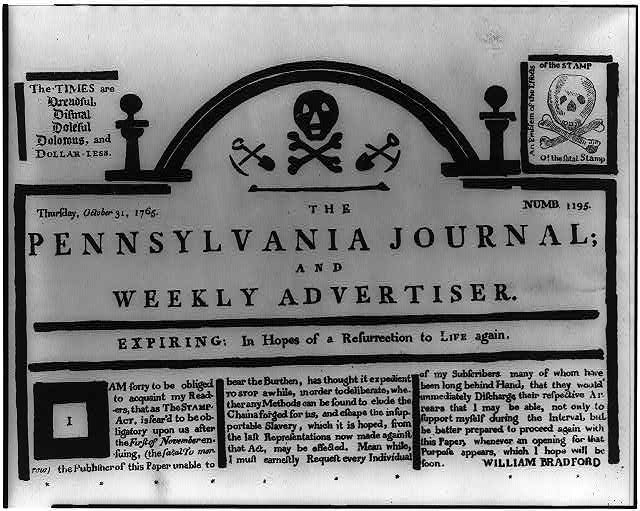 The Pennsylvania journal and weekly advertiser - expiring: in hopes of a resurrection to life again
