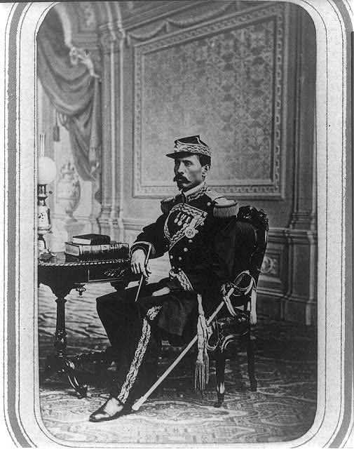 [Porfirio Díaz, full-length portrait, seated, facing front]