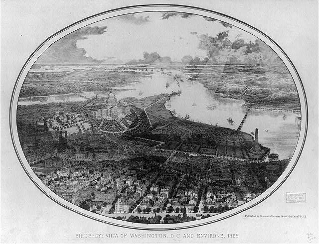 Birds-eye view of Washington, D.C. and environs, 1865