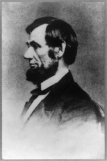 [President Abraham Lincoln, head-and-shoulders profile]