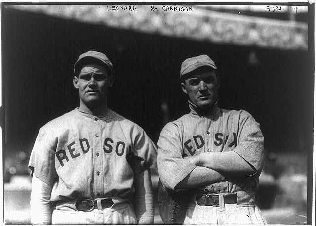 "[Hubert ""Dutch"" Leonard & Bill Carrigan, Boston AL (baseball)]"