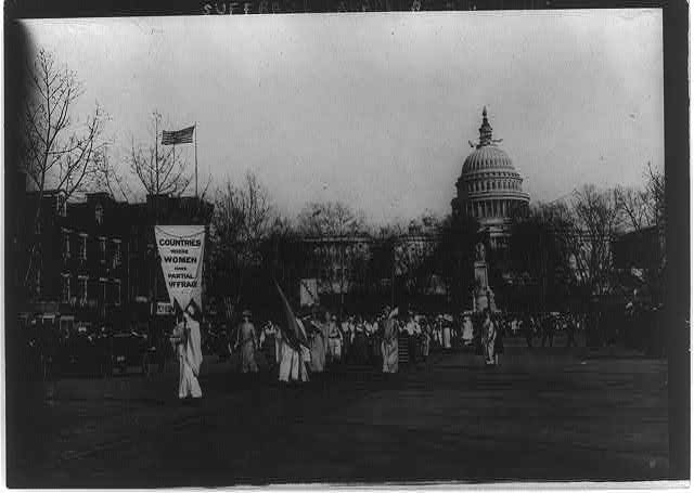 Suffrage parade, Wash. D.C.