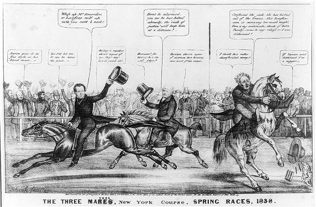 The three mares/mayors, New York course, spring races, 1838