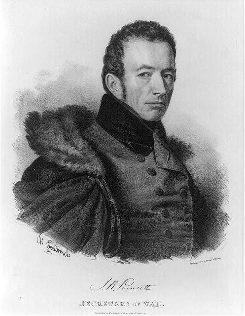 J.R. Poinsett, Secretary of War