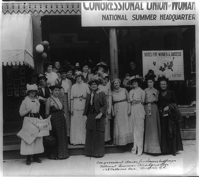 Congressional Union for Woman's Suffrage, National Summer Headquarters, 128 Bellevue Avenue, Newport, R. I.