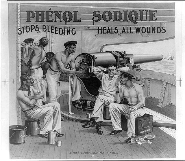 Phénol sodique stops bleeding heals all wounds