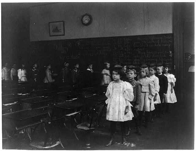 [Children marching around the classroom, Washington, D.C.]