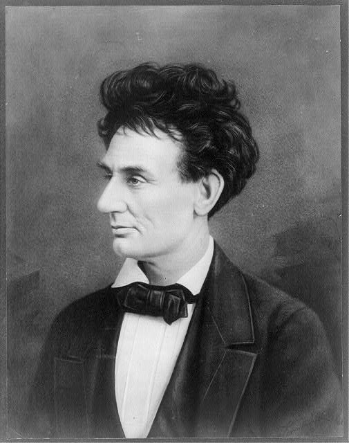 [Abraham Lincoln, head-and-shoulders portrait, facing left. Reversed and retouched copy of photo by Alexander Hessler]