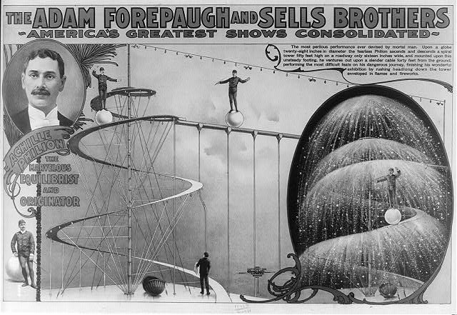 The Adam Forepaugh and Sells Brothers America's greatest shows consolidated--Achille Philion the marvelous equilibrist and originator
