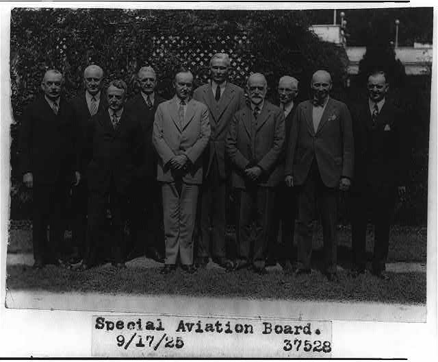 Calvin Coolidge with Special Aviation board, Sept. 17, 1925