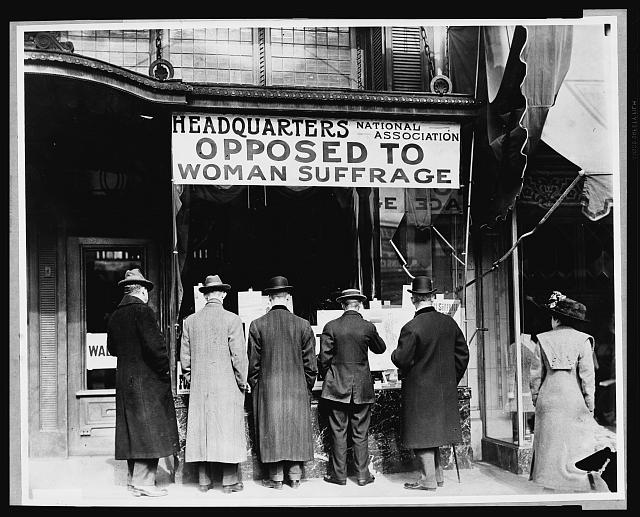 Photo of the headquarters for the National Anti-Suffrage Association