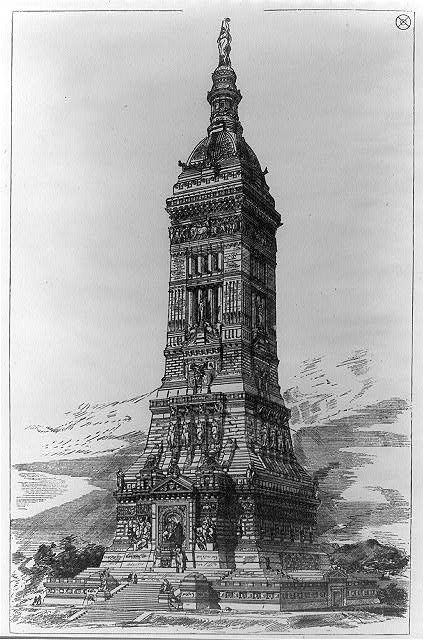 [Proposed design for the completion of the Washington Monument, Washington, D.C.]